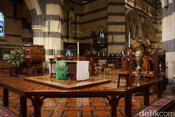 Sudut St Pauls Cathedral juga dibagi ke beberapa wilayah. Seperti Kids Area, ada juga museum mini (Shinta/detikTravel)