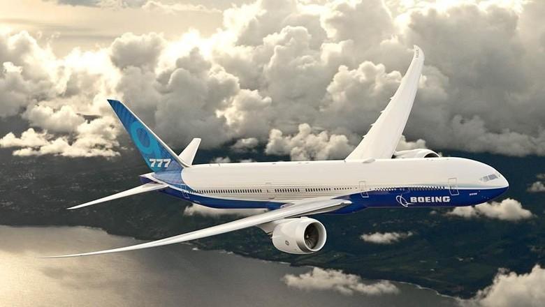 Gambar Boeing 777X-9 (Dok. Boeing)