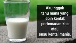 Susu kental manis bukan pangan yang cocok diberikan ke anak karena kandungan gulanya yang tinggi. Namun demikian tetap saja ada yang tidak mengerti.