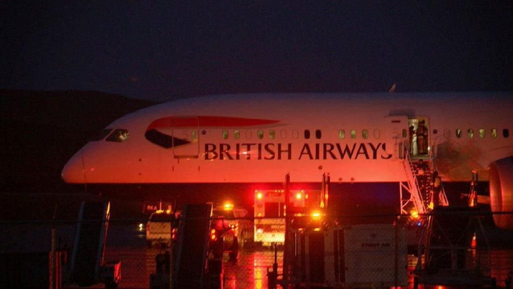 Kokpit Berasap, Pesawat British Airways Mendarat Darurat