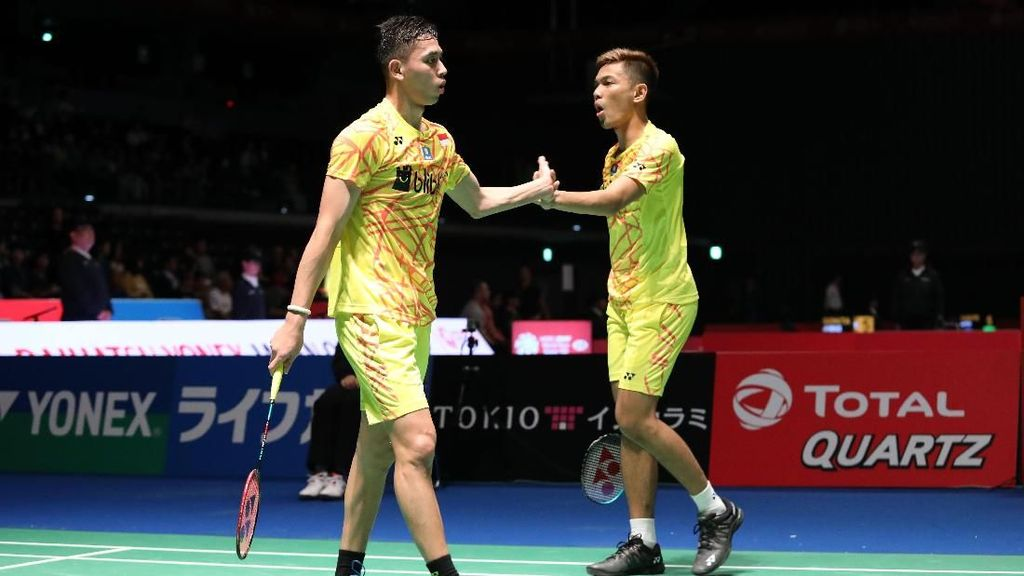Singkirkan Ganda Taiwan, Fajar/Rian ke Semifinal Hong Kong Terbuka