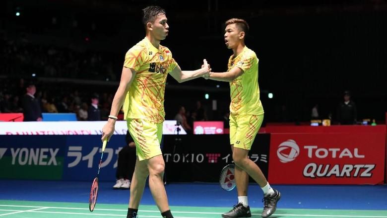 Fajar/Rian ke Perempatfinal Jepang Terbuka, Ahsan/Hendra Mundur
