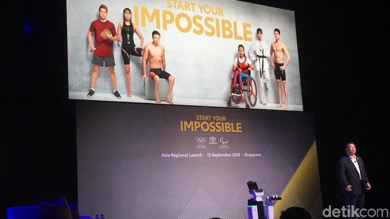 Susumu Matsuda saat memperkenalkan para atlet Asia yang menjadi bagian dari Toyota Heroes (Foto: Dadan Kuswaraharja)
