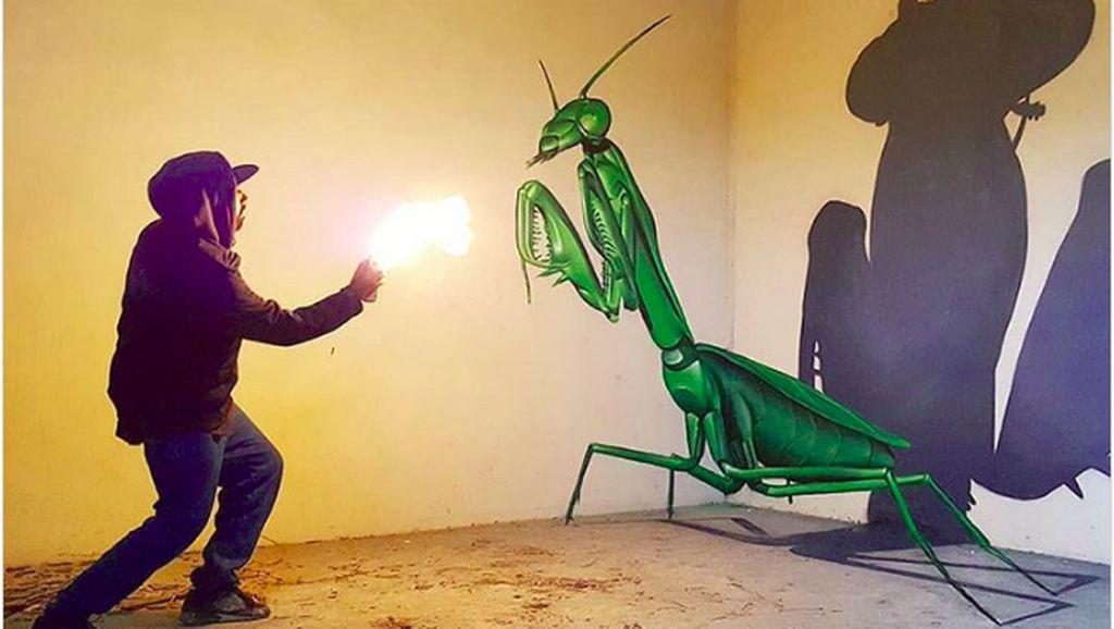 Keren Banget! Seni Grafiti 3D Ini seperti Keluar dari Tembok
