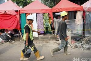 PKL Tanah Abang Kehilangan Lapak Sementara Demi Skybridge
