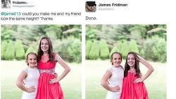 Saat masalah tinggi badan bisa dengan mudah diatasi oleh editor profesional James Fridman. Hasilnya malah jadi kocak banget!