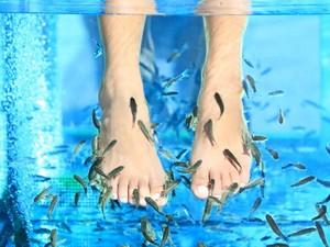 Spa dengan Ikan, Kaki Wanita Ini Diamputasi