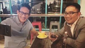 Ridwan Kamil Pamer Ngopi Bareng Sandiaga: Kami Damai-damai Saja