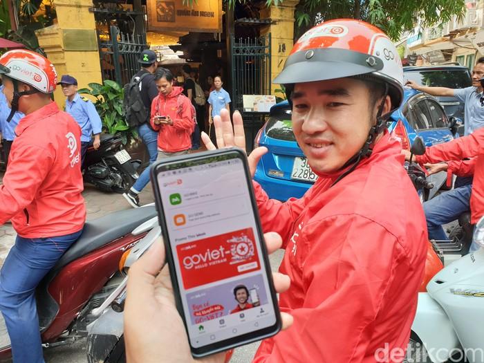 Driver GoViet. Foto: Adi Fida Rahman/detikINET