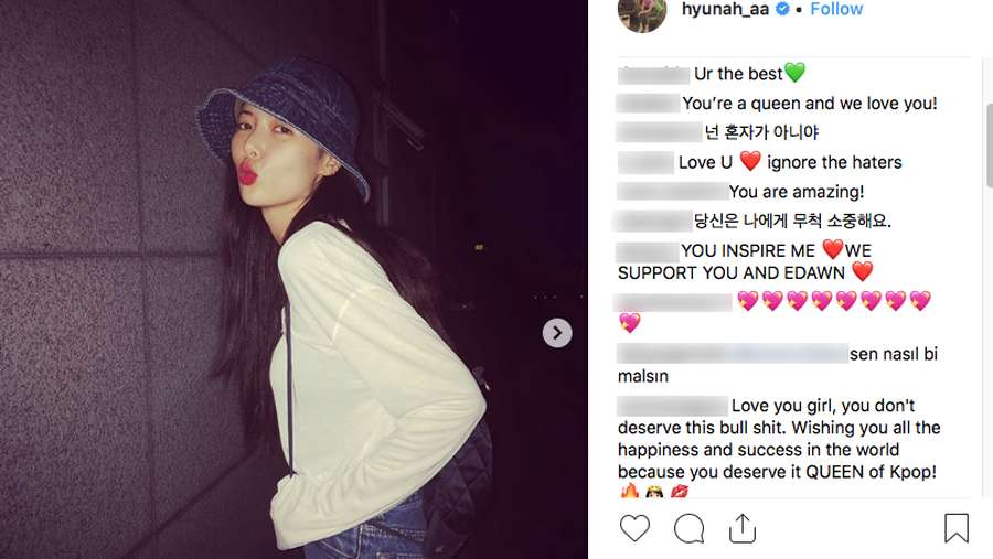 Ramai Kabar Pemecatan HyunA, Netizen Beri Dukungan