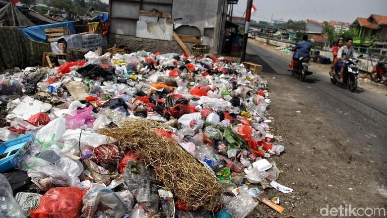 Bau! Potret Sampah yang Dibiarkan Bertumpuk di Cilincing