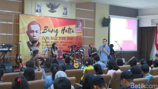 Roadshow Bung Hatta Anti-Corruption Award (BHACA) di kampus UKSW, Salatiga.