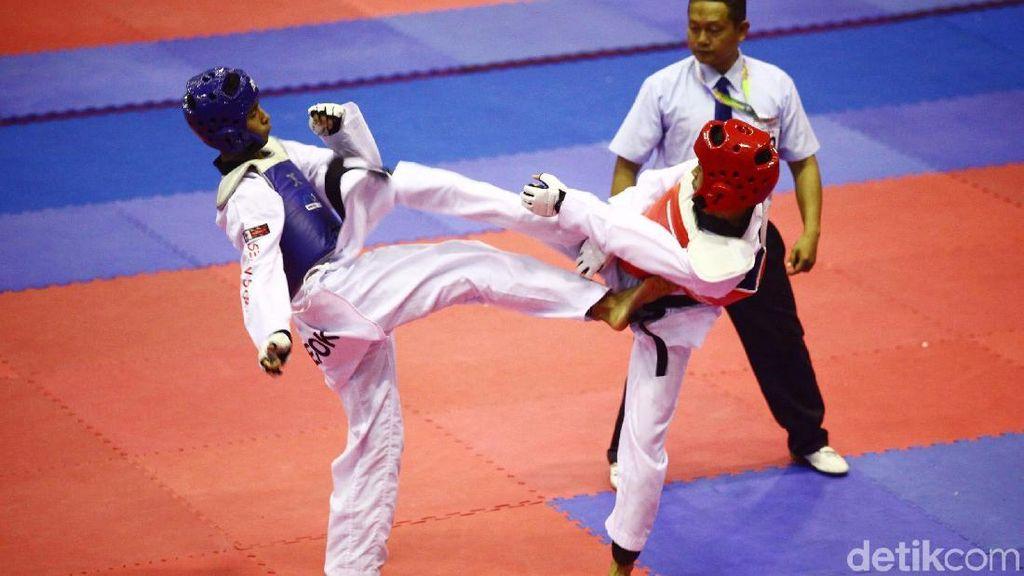 Atlet Taekwondo Adu Tangguh di Kapolri Cup 2018