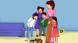Dalam gambar ini ada yang memecahkan vas bunga nih, siapakah anak yang melakukannya? Ayo jawab dan ungkap kepribadianmu berdasarkan tebakanmu.