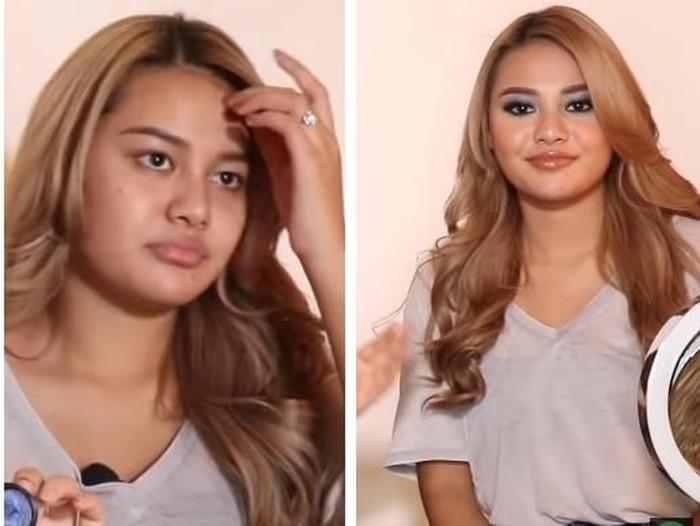 Aurel Hermansyah Before - After Makeup Foto: dok. Youtube (The Hermansya A6)