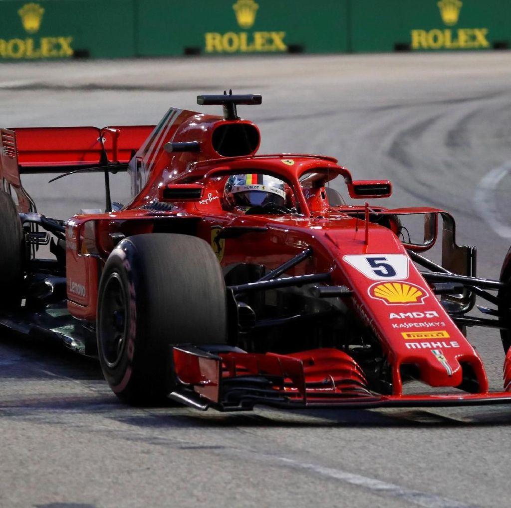 Vettel Tercepat di Sesi Ketiga Latihan Bebas GP Singapura