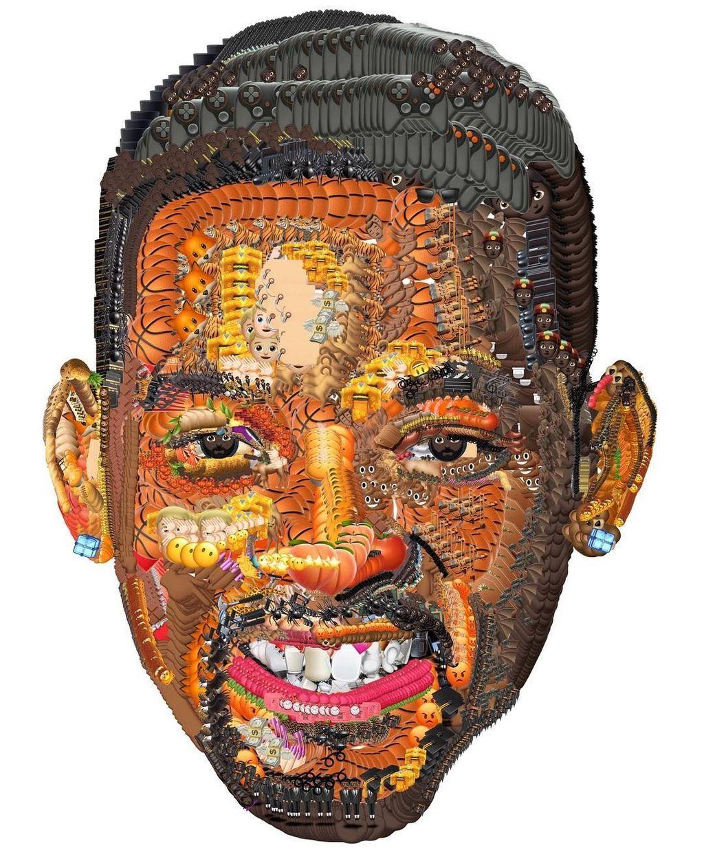 Will Smith jadi salah satu pesohor yang potret wajahnya dibuat menggunakan emoji. Foto: Instagram/yungjake