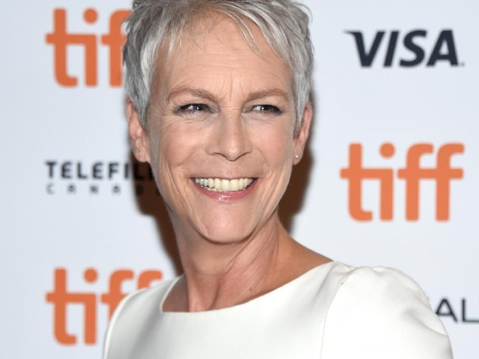 LOS ANGELES, CA - SEPTEMBER 14:  Jamie Lee Curtis attends Halloween Horror Nights 2018 at Universal Studios Hollywood on September 14, 2018 in Los Angeles, California.  (Photo by Randy Shropshire/Getty Images for Universal Studios Hollywood)