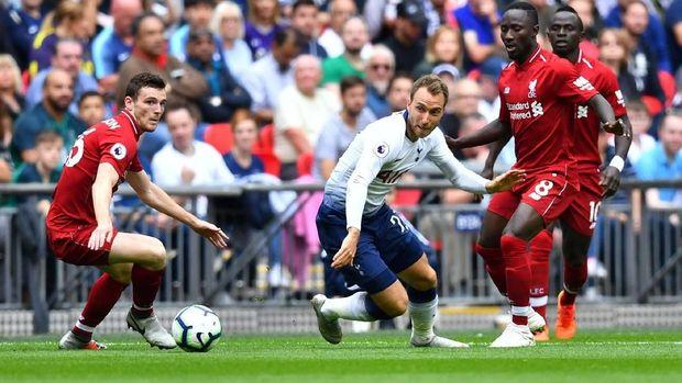 Duel Tottenham Hotspur lawan Liverpool jadi duel dengan jumlah gol terbanyak dalam sejarah Liga Primer Inggris.