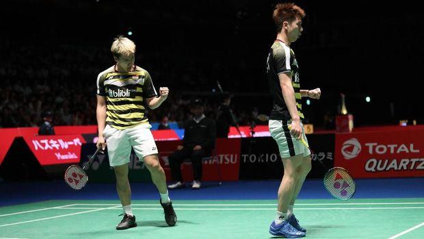 Marcus/Kevin berpeluang kembali bertemu ganda Indonesia di perempat final China Terbuka 2018.