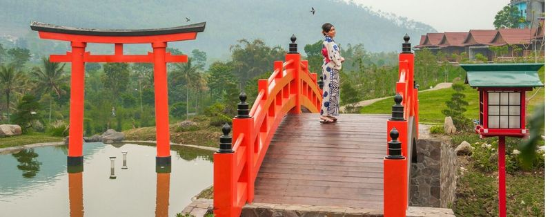Nuansa khas Jepang bisa ditemui kala berkunjung atau bermalam di The Onsen Hot Spring Resort berlokasi di Jalan Arumdalu, Songgiriti, Kota Batu. (Dok. The Onsen Hot Spring Resort Batu)