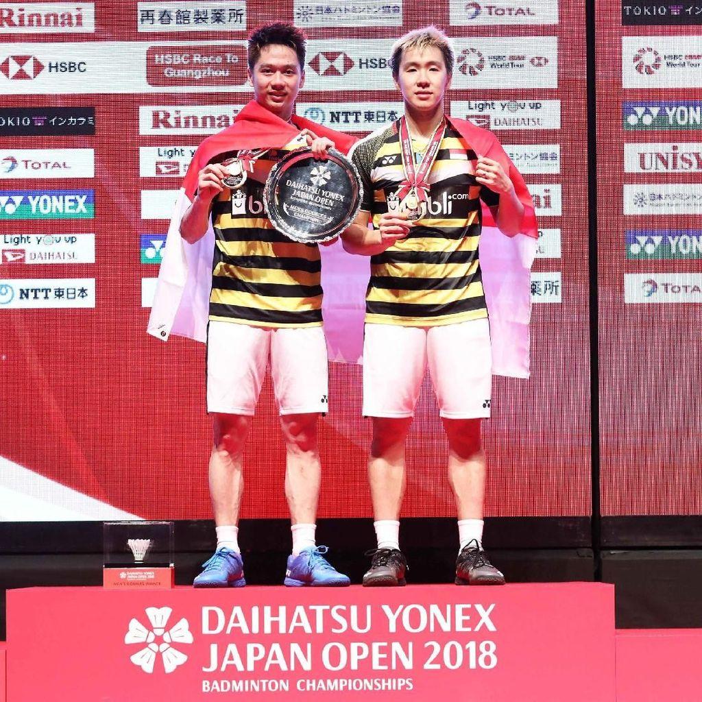 Kalahkan Ganda China, Kevin/Marcus Juara Jepang Terbuka