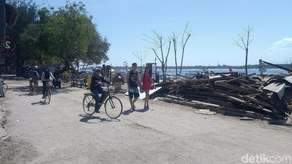 Gili Lombok Pemulihan, Kekurangan Material Bangunan Hingga Tukang