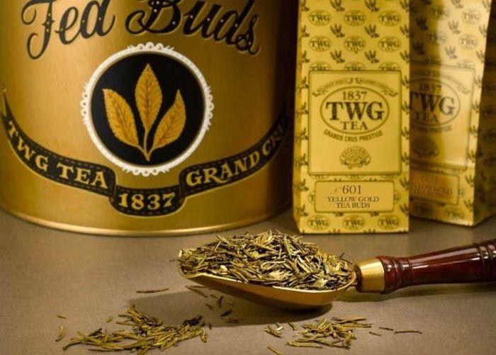 TWG Yellow Gold Tea Buds seharga US$ 3.000/100 gram (Rp 43 juta) dibuat oleh produsen teh berbasis di Singapura. Istimewa/Financesonline.