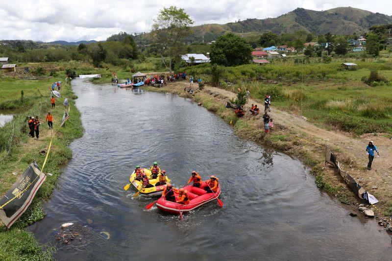 Beginilah keseruan rafting di Sungai Lukup Badak di kaki Gunung Leuser. Tepatnya di Desa Kalanare, Kecamatan Pegasing, Aceh Tengah. (dok. Dinas Pariwisata Aceh)