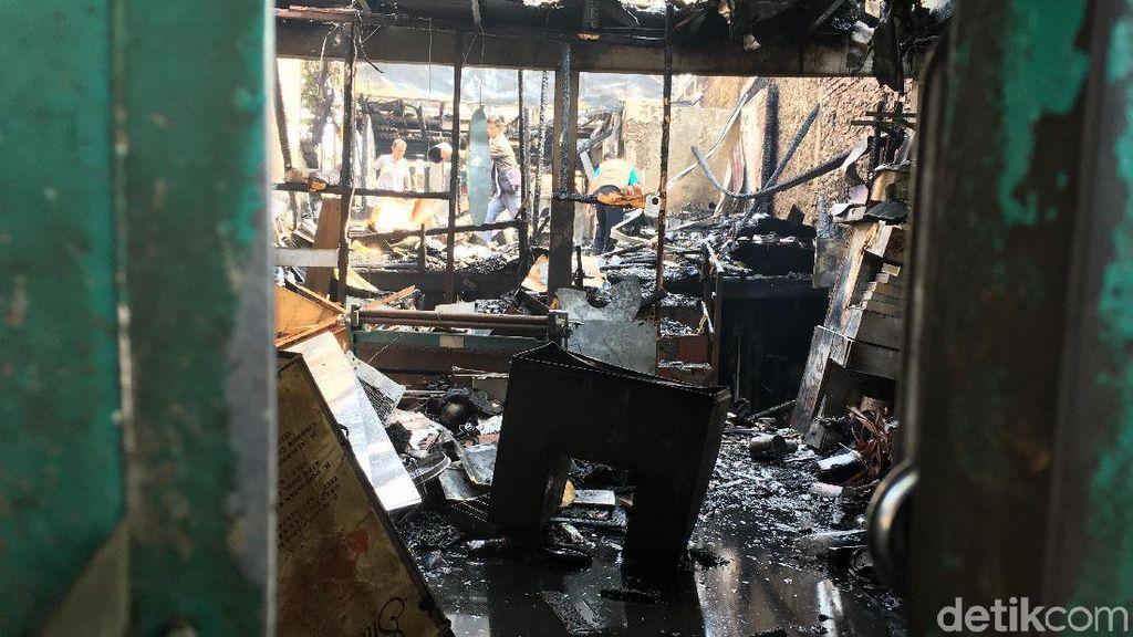 Kebakaran di Toko Gas Grogol Padam, Tidak ada Korban Jiwa
