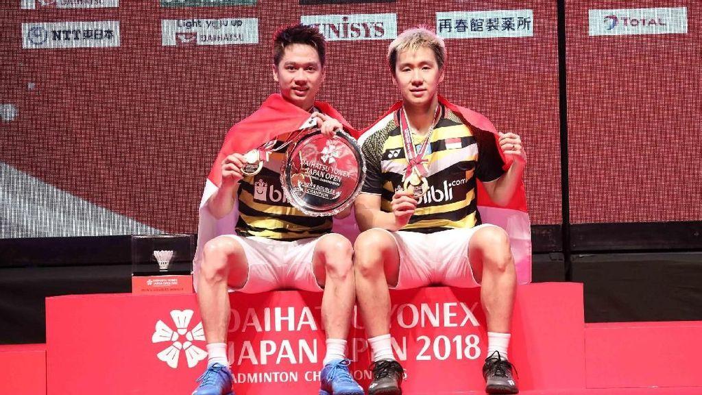 Kevin/Marcus Puas Pertahankan Gelar Juara di Jepang Terbuka