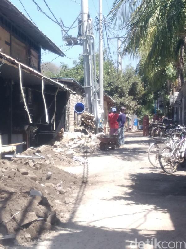 Salah satu sudut jalanan Gili Trawangan (Harianto Nukman/detikTravel)