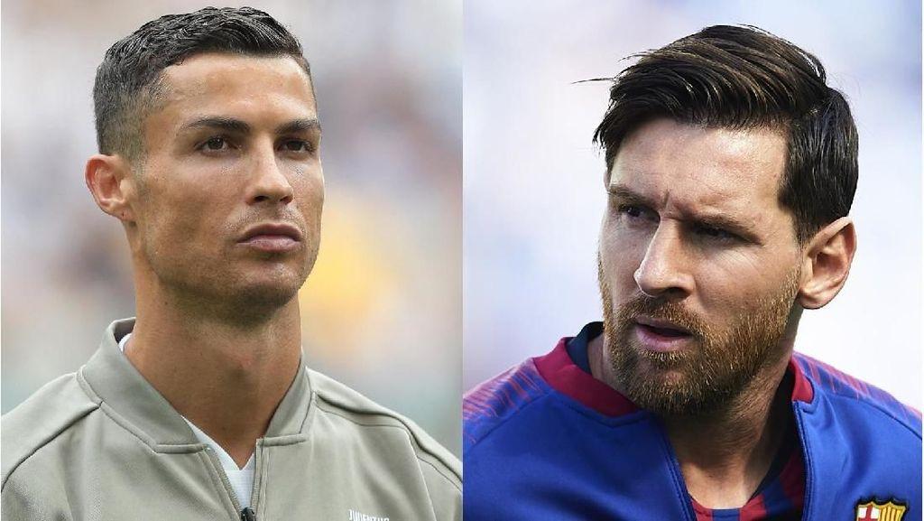 Jika Main Bareng, Apa Messi Mau Oper Bola ke Ronaldo?