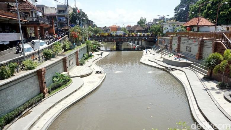 Taman Kumbasari yang cantik bak Sungai Cheonggyecheon di Korsel (Ditya/detikTravel)