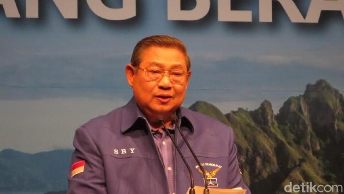 Foto: Ketum Demokrat SBY. (Noval Dwinuari Antony/detikcom).