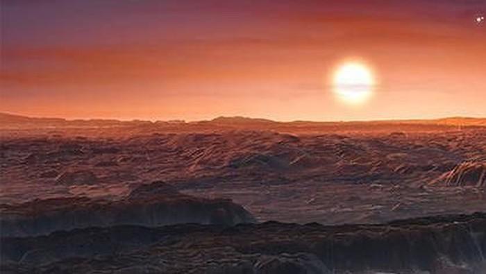 Gambar reka dari Proxima centauri b, exoplanet yang diklaim NASA bisa dihuni. Foto: NASA.gov