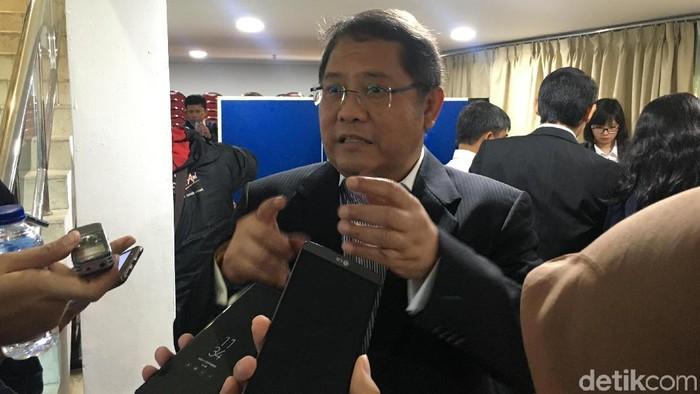 Menkominfo Rudiantara bicara soal rencana pemerintah membuat aplikasi serupa Go-Jek dan Grab (Foto: Agus Tri Haryanto/detikINET)