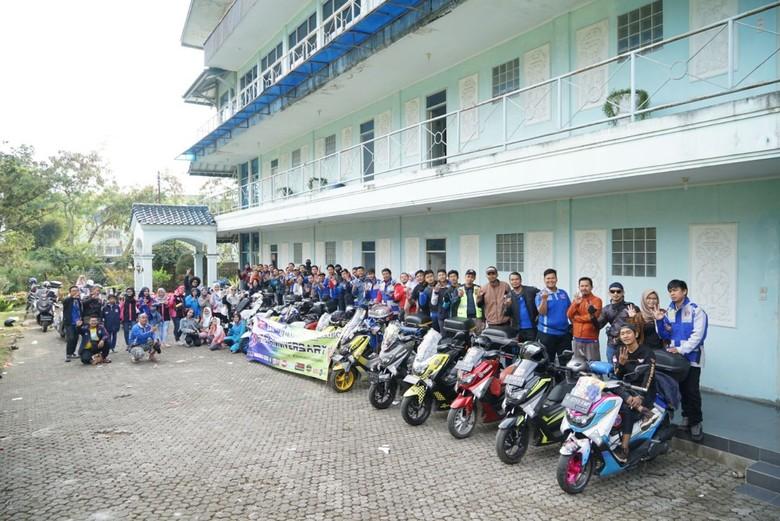 Nmax Riders Bekasi Rayakan Ultah Ketiga. Foto: Dok. Nmax Riders Bekasi