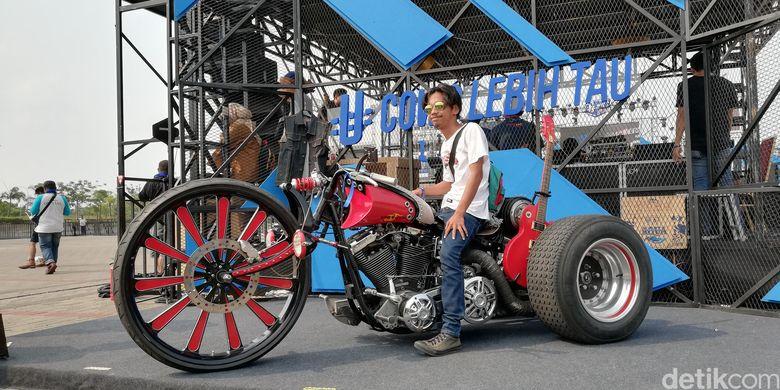 Dari Tak Bisa Jalan Harley Ini Dimodif Jadi Motor Roda Tiga