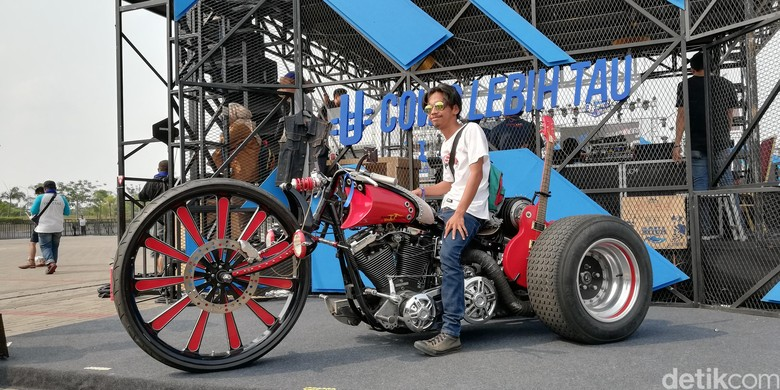 Harley-Davidson Modifikasi Roda Tiga. Foto: Rizki Pratama
