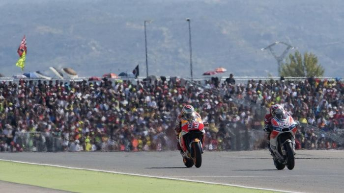 Balap MotoGP Aragon 2017. (Foto: Mirco Lazzari gp/Getty Images)