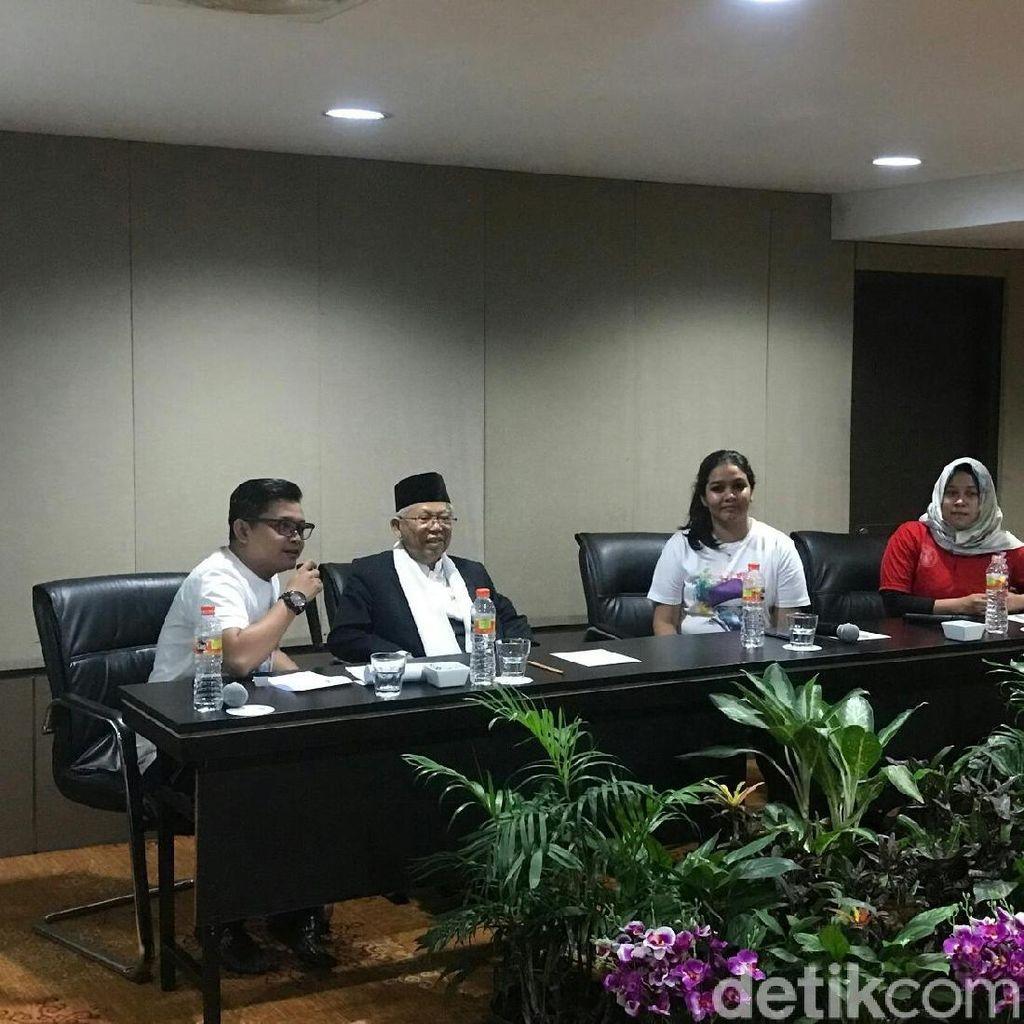 Bertemu Komunitas Muda, Maruf Amin Berkelakar soal Usia