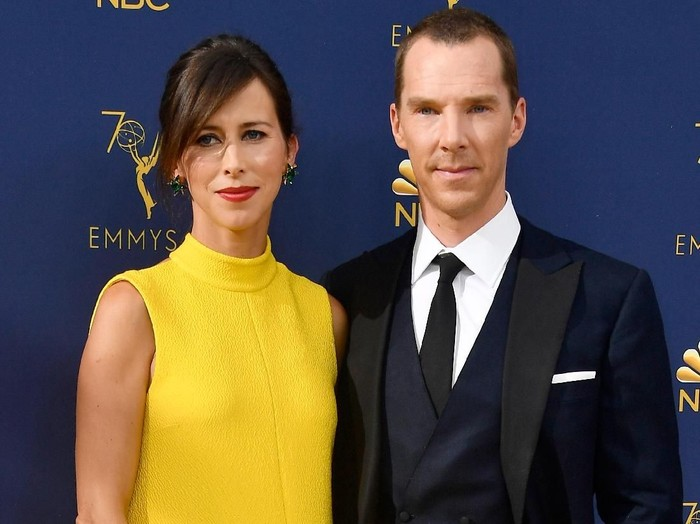 LOS ANGELES, CA - SEPTEMBER 17:  Sophie Hunter (L) and Benedict Cumberbatch attend the 70th Emmy Awards at Microsoft Theater on September 17, 2018 in Los Angeles, California.  (Photo by Frazer Harrison/Getty Images)