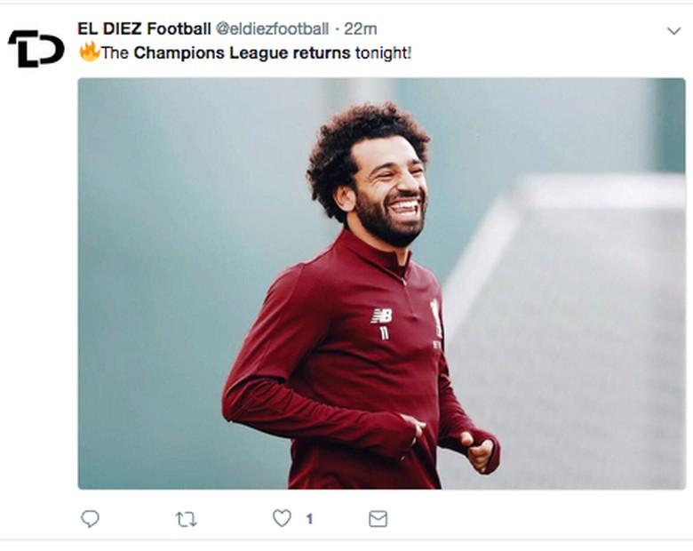 Setelah sampai final musim lalu, Mohamed Salah diyakini tak sabar lagi memulai petualangan baru musim ini. (Foto: Twitter)