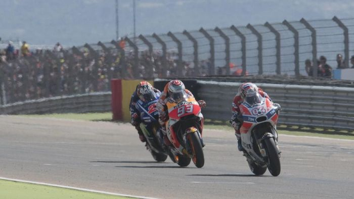 Dominasi Honda vs tren posisi Ducati di MotoGP Aragon. (Foto: Mirco Lazzari gp/Getty Images)