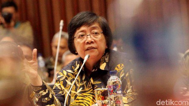 Menteri Lingkungan Hidup dan Kehutanan Siti Nurbaya Bakar hadir dalam rapat kerja bersama Komisi IV DPR. Rapat itu membahas anggaran KLHK tahun 2019.