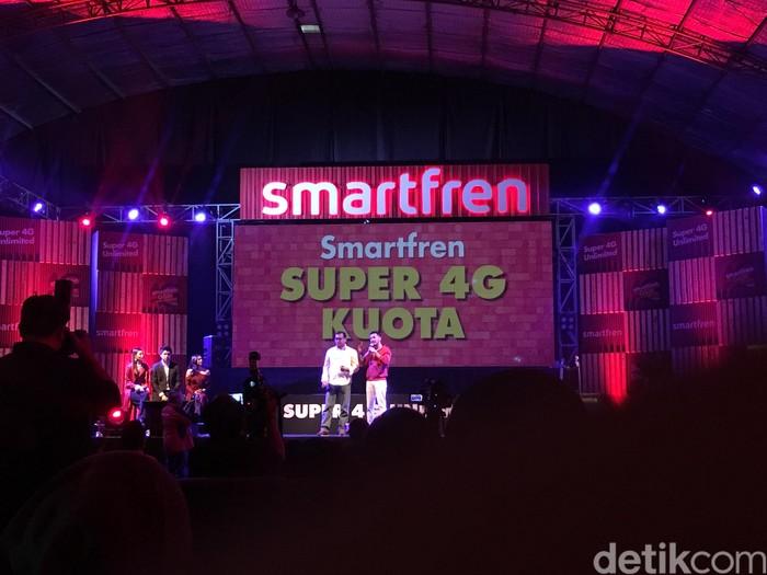 Suasana acara Smartfren. Foto: Agus Tri Haryanto/inet