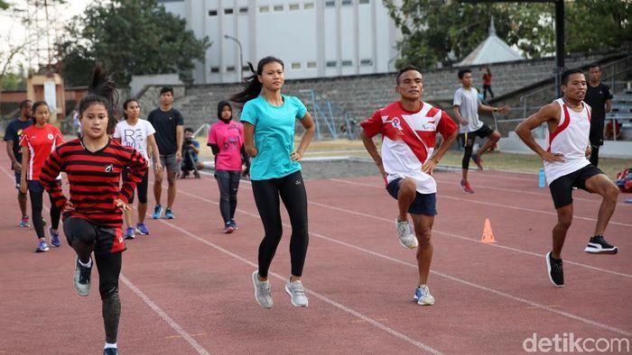 Atlet Asian Para Games 2018 sedang berlatih (Agung Pambudhy/detikSport)