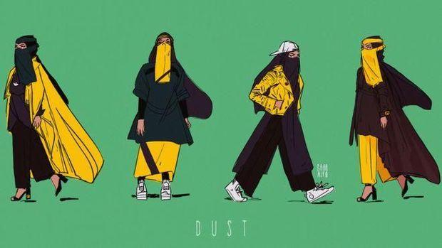 Superhero berniqab, Dust.
