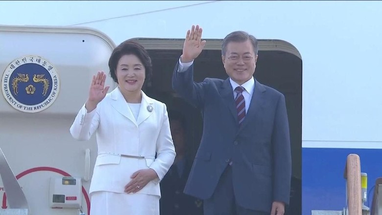 Presiden Korsel Bertolak ke Korut untuk Bertemu Kim Jong Un